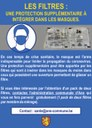 Les filtres : Une protection supplémentaire à intégrer dans les masques...