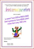 Grand carnaval pour enfants le samedi 7 mars à l'école Lonay