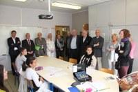 La Ministre Marie-Martine Schyns en visite à l'école professionnelle d'Alleur !