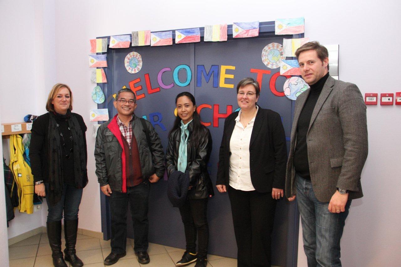 Le Président de l'ONG Peace And Development group reçu à l'école du Tilleul ce jeudi 13 novembre.